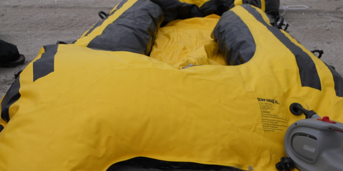 the M4 raft inflating