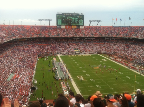 Sunlife Stadium inside