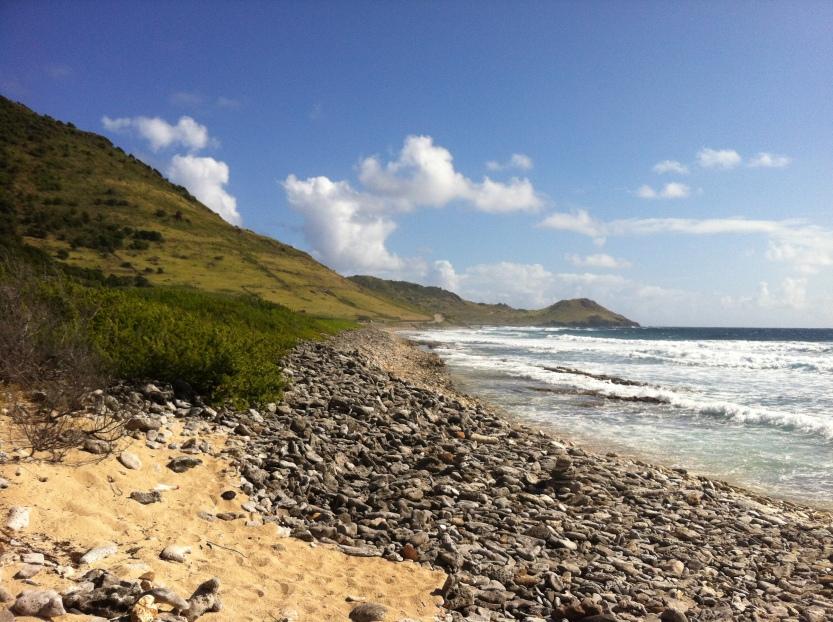 Beach run, St Barth