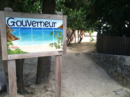 Gouverneur Beach sign