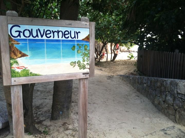 Gouverneur Beach sign